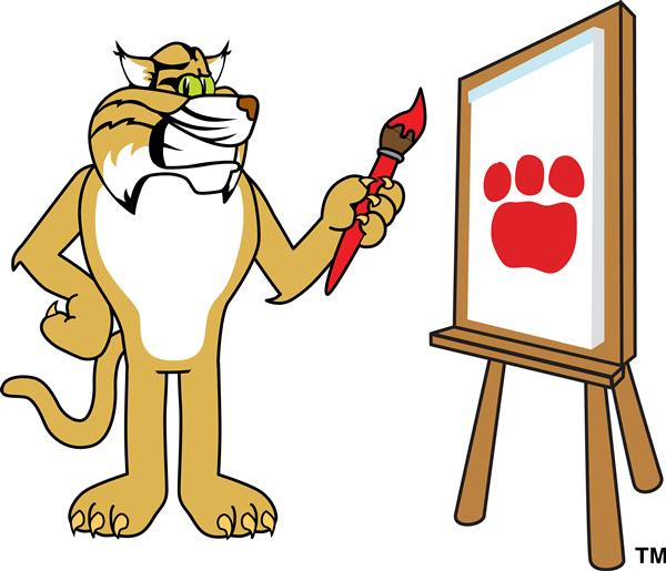 wildcat with a paintbrush