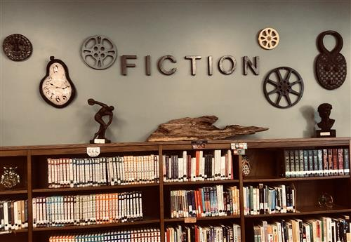 Picture of Fiction Section in the HVS Library