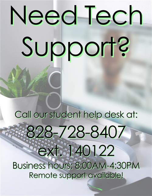 Tech Support 828-728-8497 Extension 140122