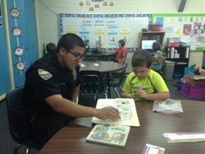 Officer Arturo with Kaiden