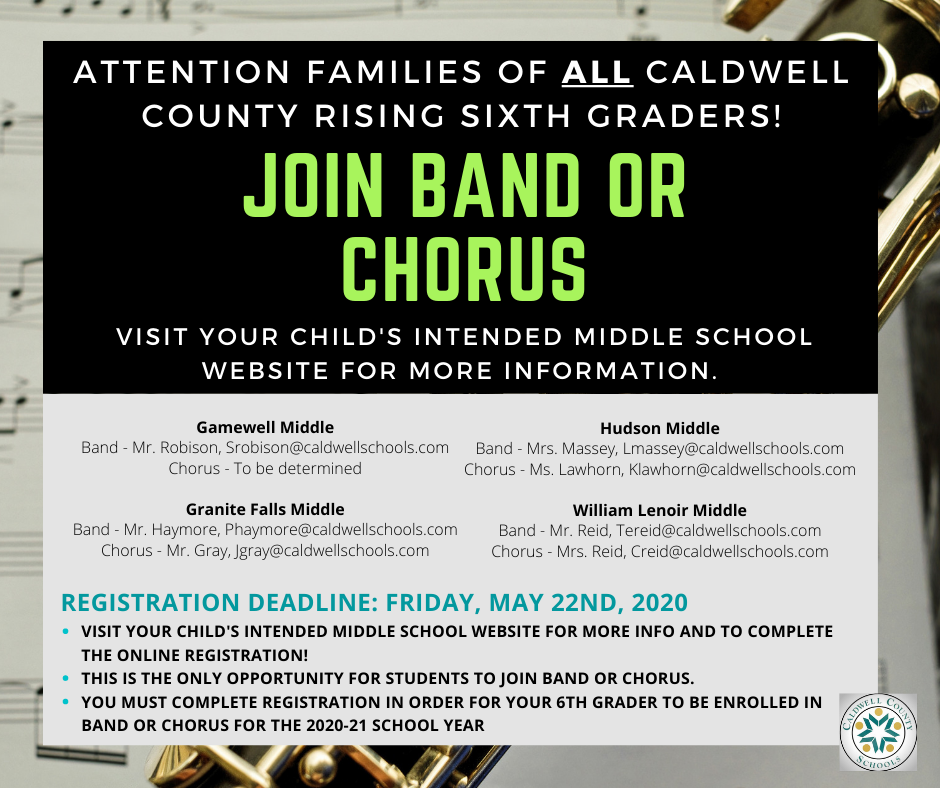 Chorus and Band Recruitment Flyer