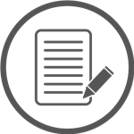 document icon with pencil and paper