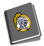 book icon with school logo