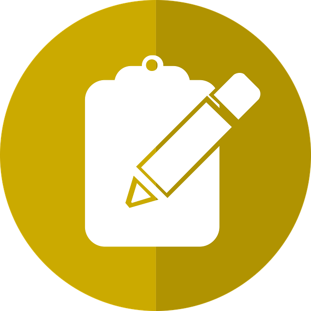 application icon of clipboard and pen