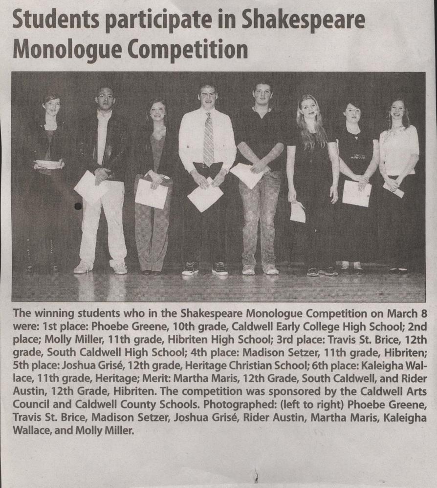 shakespeare school essay competition blog Shakespeare school essay competition si-a desemnat si premiat castigatorii celei de-a x-a editii: 29 de tineri talentati si creativi au reusit sa convinga juriul ca sunt cei mai buni, din tara, la limba engleza.