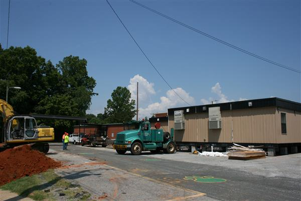 Mobile Unit being installed at Lower Creek Elementary
