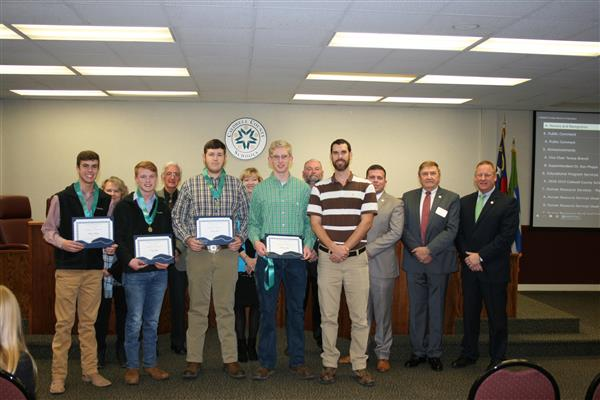 SCHS Agronomy Team Recognized by the Board of Education