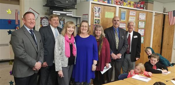 Board Members visit GFES teacher and her students