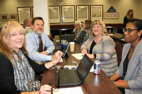 School Administration collaborating on digital tech ideas