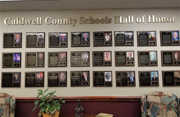 Hall of Honor Display at the Education Center