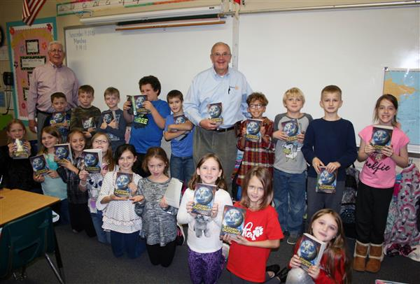Lenoir Rotarians Present Dictionaries to 3rd Graders at Happy Valley School
