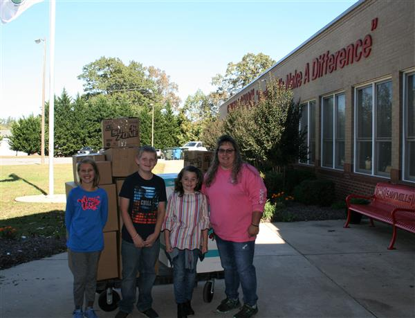 Sawmills Elementary donates supplies for Craven and Pender