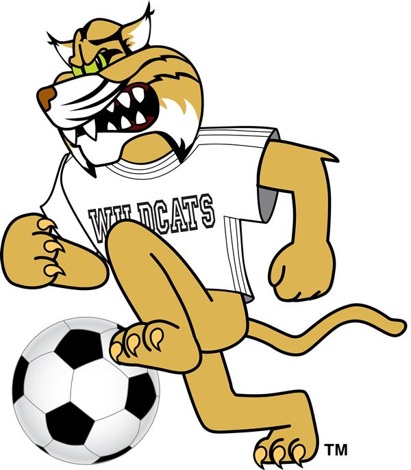 Wildcat running with soccer ball