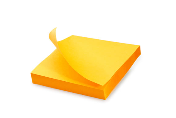Yellow sticky note