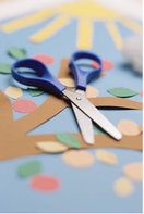 Craft paper and scissors for art supplies.