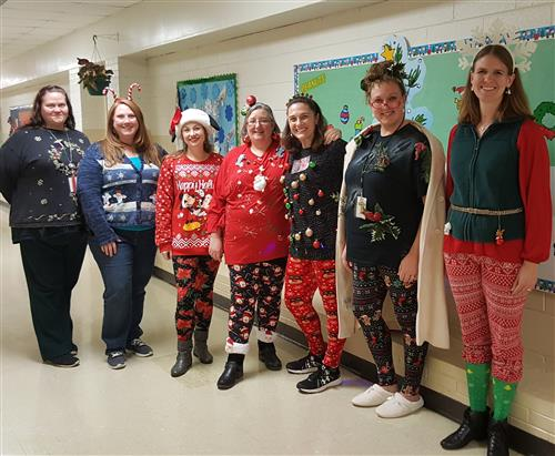 Tacky Christmas Outfit contestants