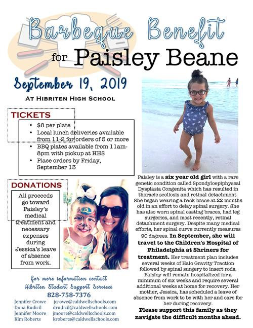 Benefit for Paisley