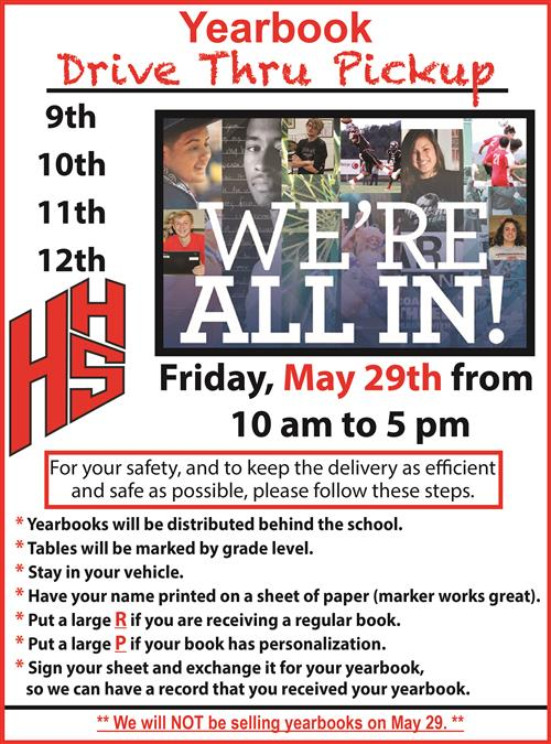 Yearbook Pickup Info